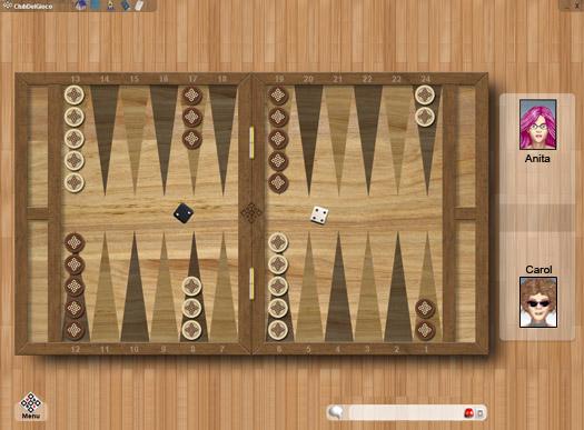 Backgammon Online ClubDelGioco