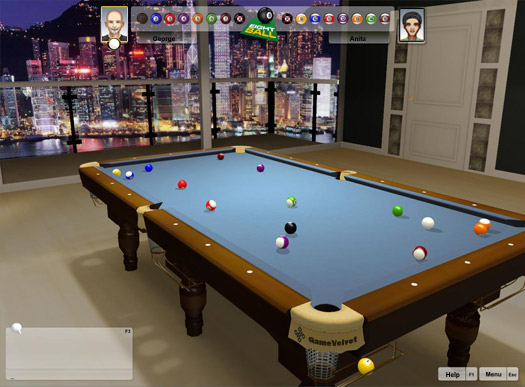 3D 8 Ball Billiards Online GameVelvet