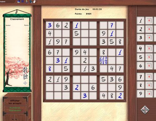 Sudoku Online ClubDeJeux