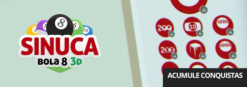 banner Sinuca Bola 8 3D